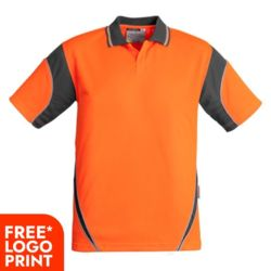SYZMIK Mens Hi Vis Aztec Polo - Short Sleeve Thumbnail