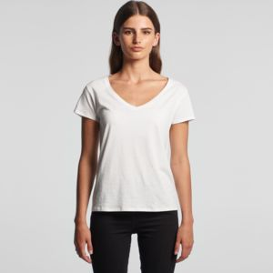 AS COLOUR Womens Brea V-Neck Tee  Thumbnail