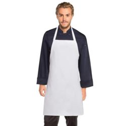 CHEF WORKS White Bib Apron No Pocket Thumbnail
