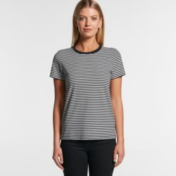 AS COLOUR Womens Bowery Stripe Tee  Thumbnail
