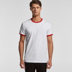 AS COLOUR Mens Ringer Tee  Thumbnail
