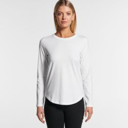 Womens Curve Long Sleeve Tee Thumbnail